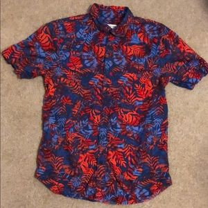 Boys Tucker Tate Red and Blue Button up Size 14-16